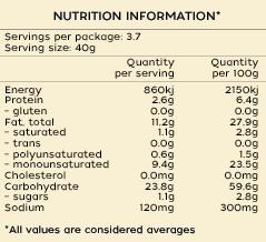 Proper Crisps Sweet Smoked Paprika - Crisps Nutritional Info