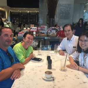 """Baxter Brenton's Founder Welcomed """"Pete's Lemonade"""" 's  Founders Touring Thailand and Visiting Retail Store in Bangkok."""