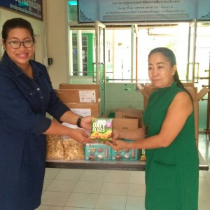 Baxter Brenton Donating Imported NZ Products to Samut Prakarn  Province's Support and Development Centre for the Disabled.