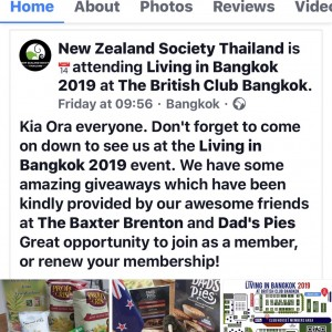 Baxter Brenton Joined New Zealand Society at Living In Bangkok 2019 With Great NZ Product Giveaway